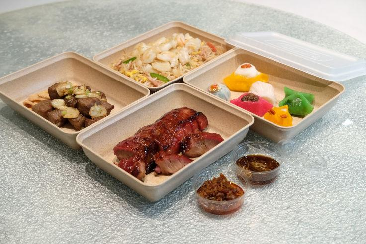 Ming Court's takeaway boxes are made with biodegradable material (Photo: Ming Court)