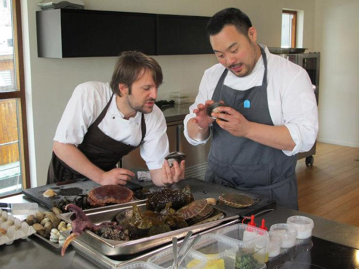 David Chang pays René Redzepi a visit at Noma in Copenhagen (Photo: Still from The Mind Of A Chef)
