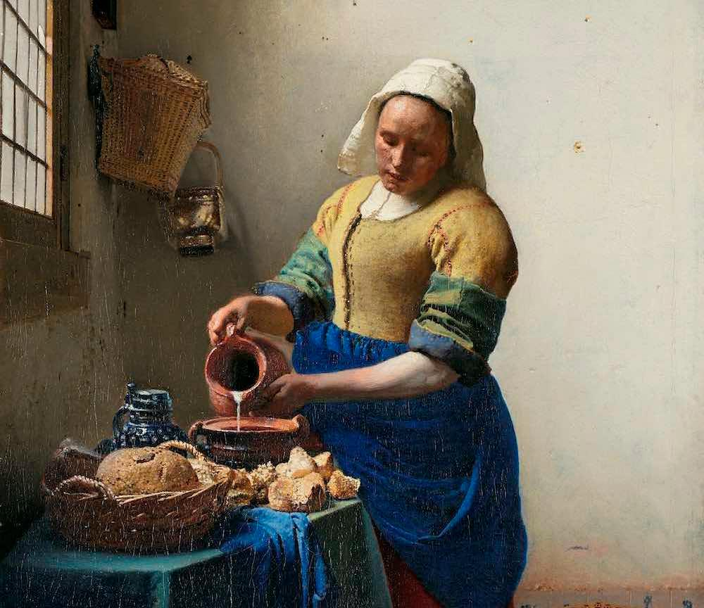 The Milkmaid (c. 1660) by Johannes Vermeer, Rijksmuseum, © Rijksmuseum, Amsterdam