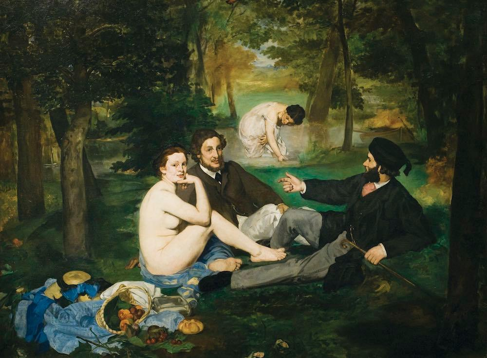Le Déjeuner sur l'herbe (1863) โดย Édouard Manet จัดแสดงในพิพิธภัณฑ์ออร์แซ (©: Artepics/age fotostock)