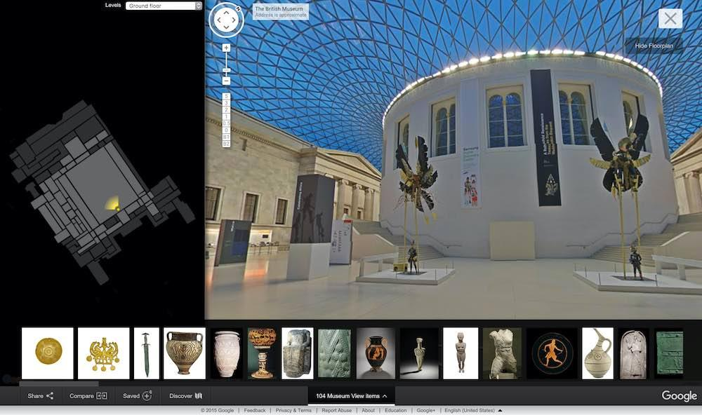 Google Street View of the British Museum © Trustees of the British Museum