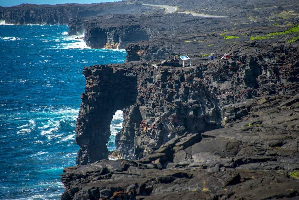 Holei Sea Arch, end of Chain of Craters Road, Hawai'i Volcanoes National Park courtesy of NPS Photo/S. Geiger