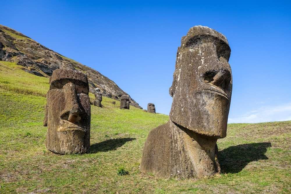 Moai statue in Rano Raraku, Rapa Nui, Easter Island © daboost/iStock