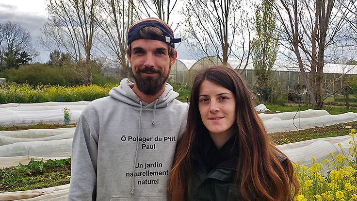 Paul Bastien-Augé et Marina Pfister, Ô Potager du P'tit Paul. ©C. Sirdey/Michelin