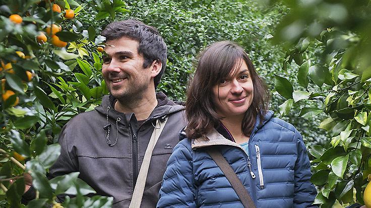 Etienne et Perrine Schaller, Agrumes Bachès ©Christel Exelmans
