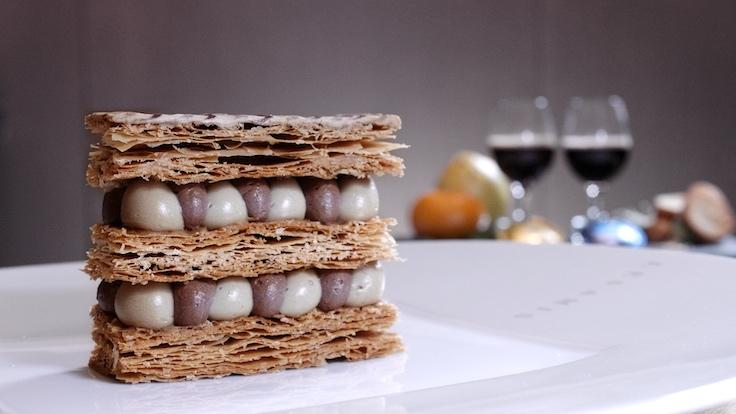 Les Amis' Mille-Feuille Featuring Nespresso Exclusive Selection Kenya Milima (Photo: MICHELIN Guide Digital)