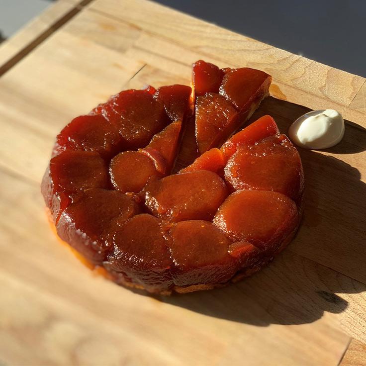 La tarte Tatin de Sébastien Vauxion. ©Michelin
