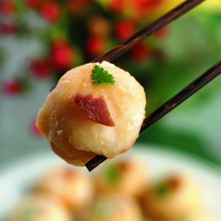 Yan Toh Heen's Golden Scallops with Minced Shrimp, Fresh Pear, and Yunnan Ham (Photo: Yan Toh Heen)