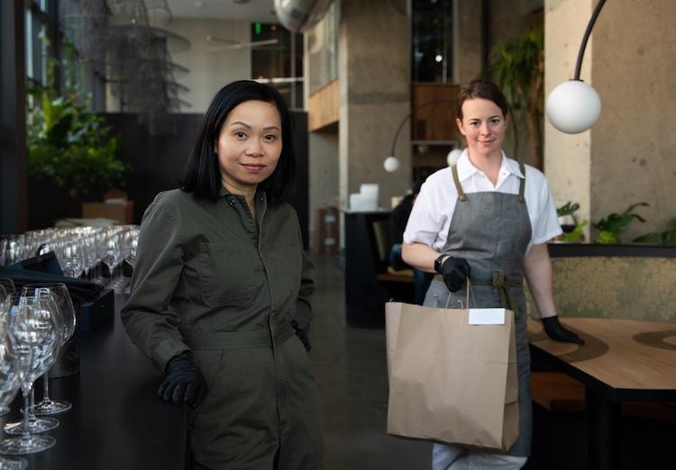 Chef Pim Techamuanvivit and her Chef de Cuisine, Meghan Clark, say they feel a sense of responsibility for their staff, forged by the cooperative nature of the work. Photo Credit: Colin Peck
