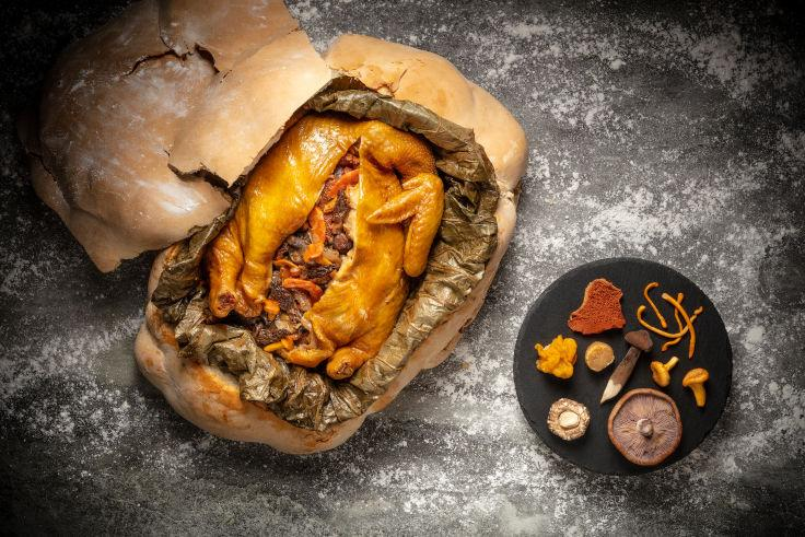 Pearl Dragon's Steamed Chicken Stuffed with Eight Treasures and Wild Mushroom (Photo: Pearl Dragon)