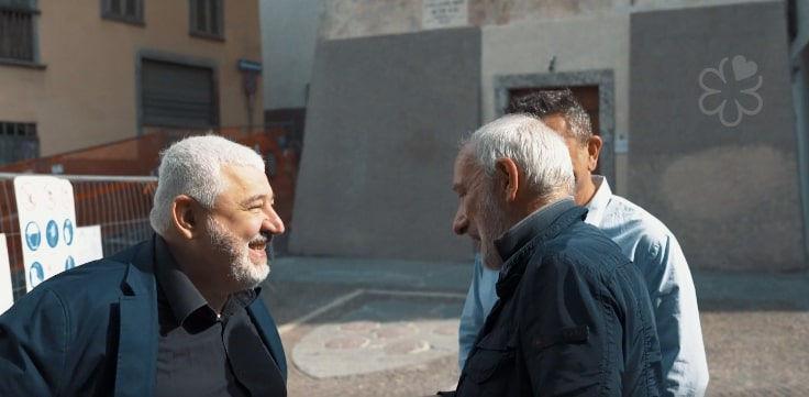 Italian chef Umberto Bombana (left)