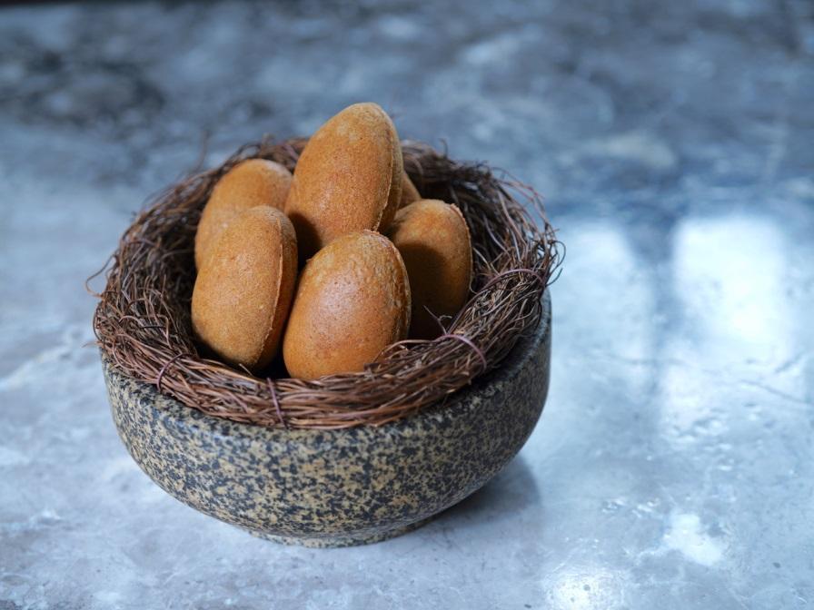 蘭推出的麵茶瑪德蓮雞蛋糕。(圖片:蘭提供)