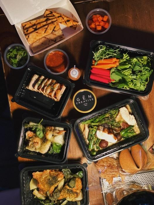 Gēn Creative 的外帶餐點,是從內用菜單中,選取不易因為旅程而改變口感、或可覆熱的品項。(圖片: Gēn Creative 提供)