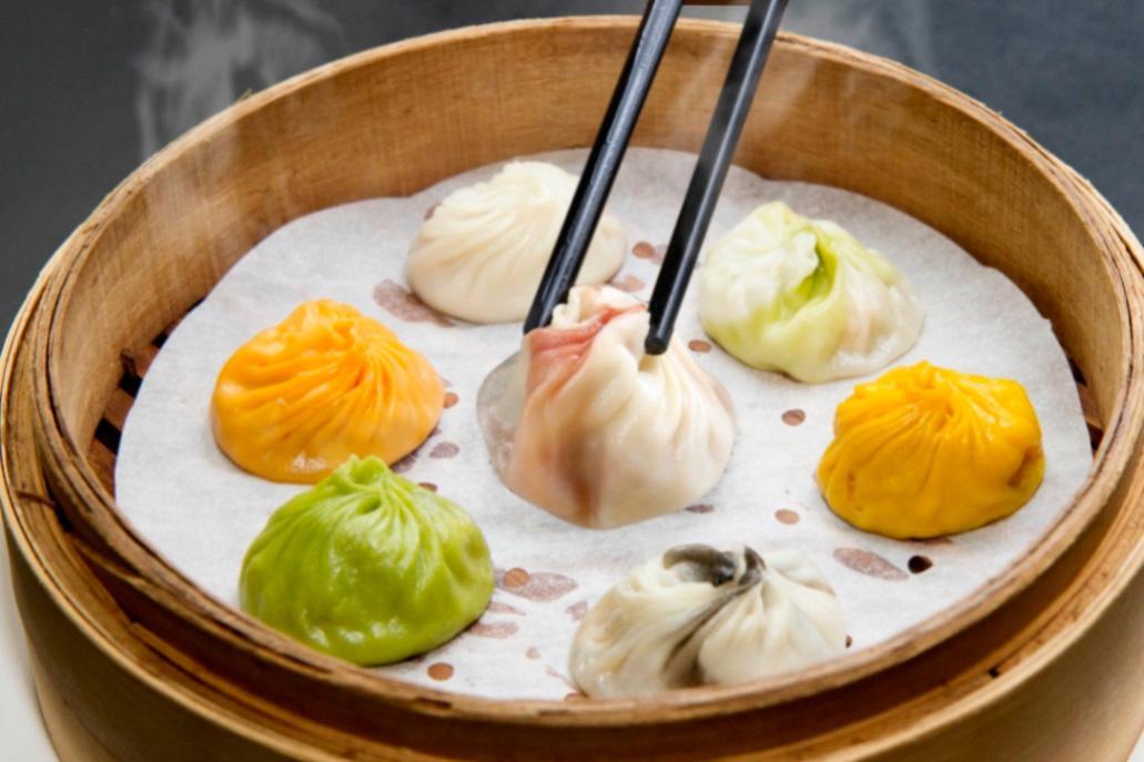 The colourful Xiao Long Bao at Dian Shui Lou (Songshan) (Photo: Dian Shui Lou)