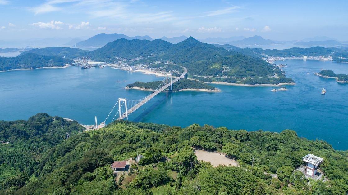Hakata Island, Oshima and Hakata-Oshima Bridge in the foreground. Photo © paprikaworks/iStock