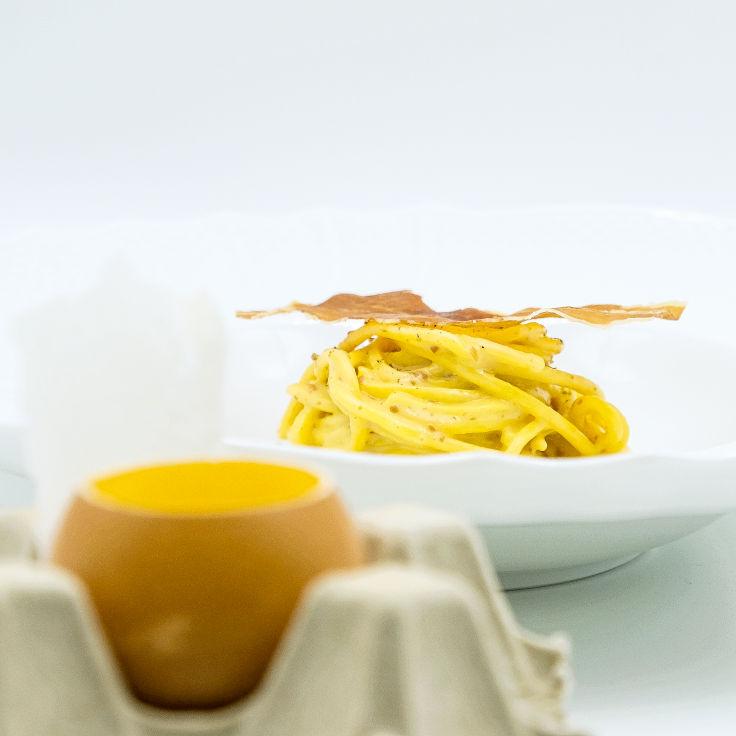Carbonara Au Koque, a signature dish at Castellana (Photo: Castellana)