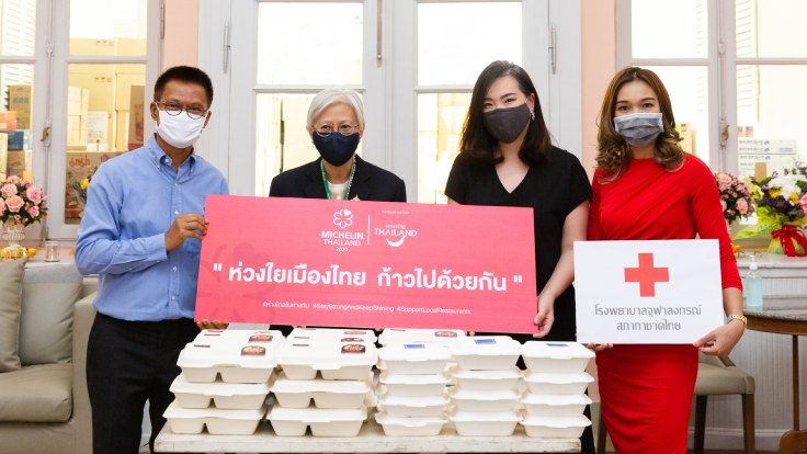 The collaboration shows support for local restaurants while thanking healthcare workers for battling COVID-19. (© MICHELIN Guide Thailand)