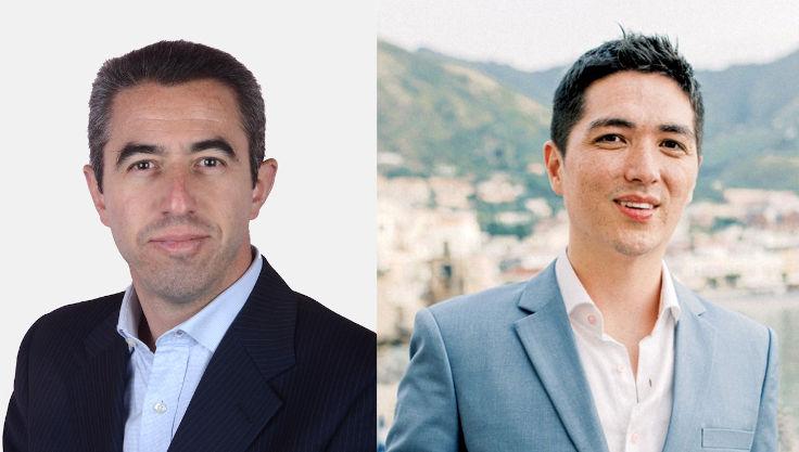 左起:米芝蓮餐飲(亞洲)董事總經理 Nicolas Achard 和 Chope 香港區總經理 Derek Winder