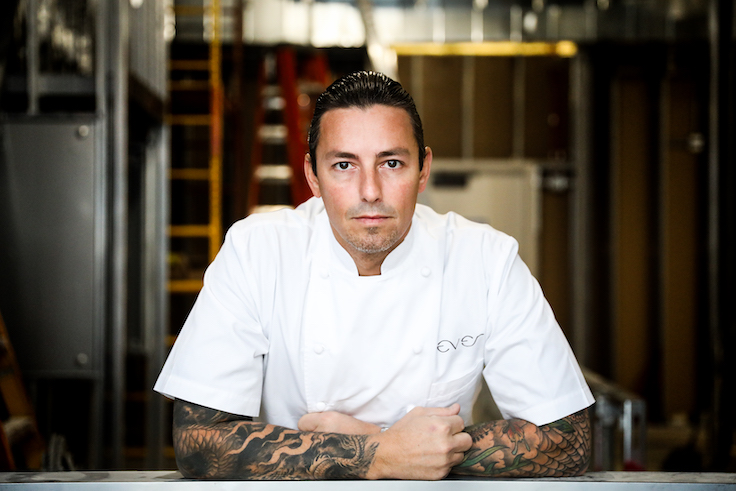 Chef Curtis Duffy. Photo by Michael Muser courtesy of Ever Restaurant.