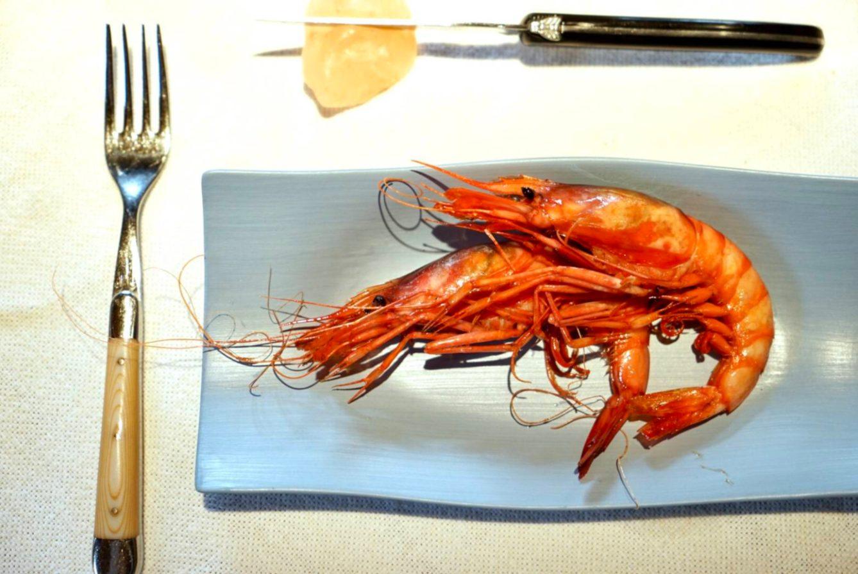 Asador Etxebarri 的炭烤紅蝦。(照片:高琹雯提供)