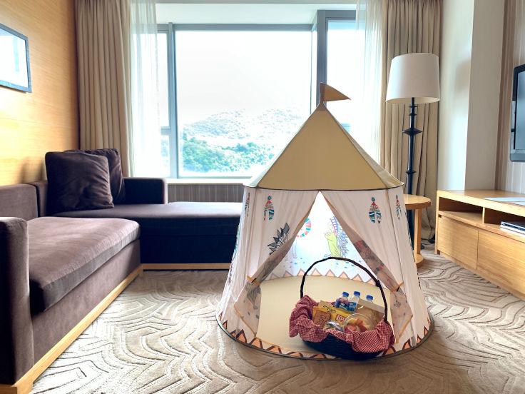 香港沙田凱悅酒店住客可於房內享用家庭營及野餐美食(圖片:香港沙田凱悅酒店)