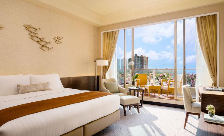 《米芝蓮指南》形容香港黃金海岸酒店的客房感覺明亮、時尚、舒適(圖片:香港黃金海岸酒店)