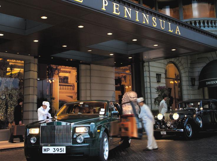 香港半島酒店住客可享豪華轎車接送服務(圖片:香港半島酒店)