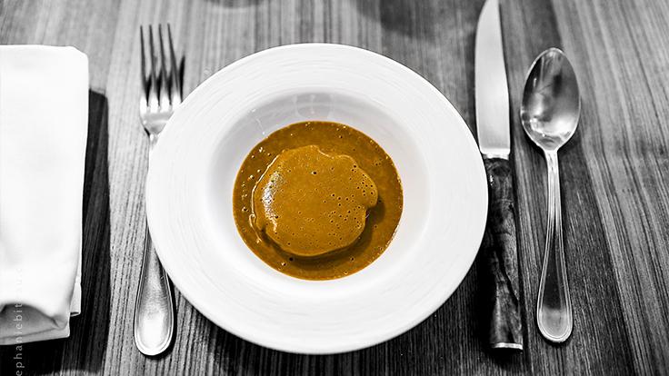 Restaurant Pertica - Lapin percheron au vinaigre de poire de Crasseau rouge. ©Stéphanie Biteau