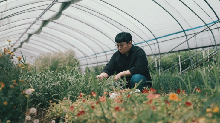 Chef Lee in his farm located an hour's drive outside of Seoul