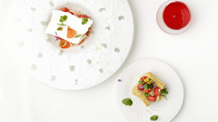 Dessert autour des fraises de François Brivary. ©Ludovic Combe