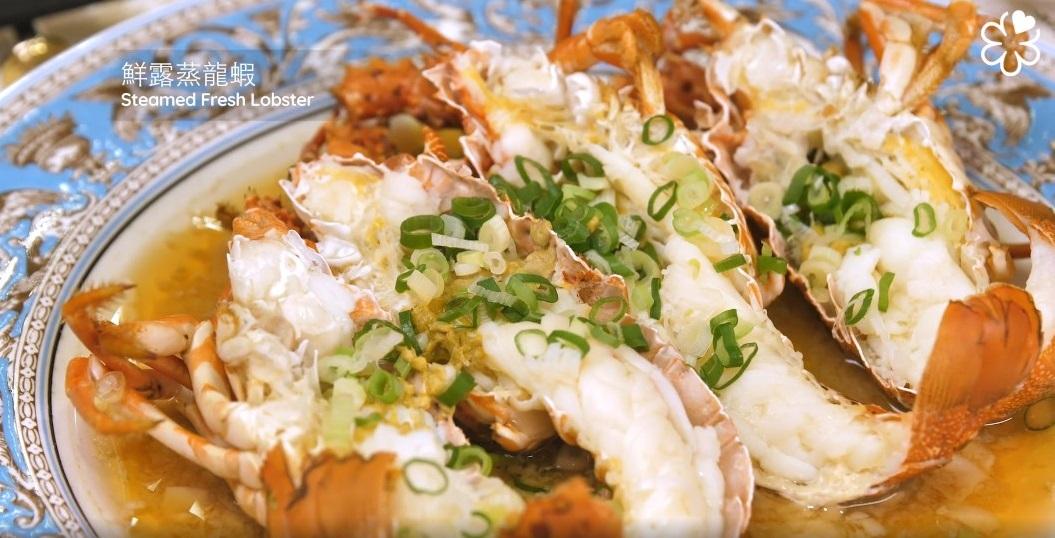 台南担仔麵的鮮露蒸龍蝦。