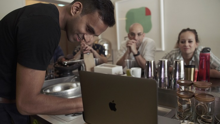 Appetite's team, from left to right: head of research Kaushik Swaminathan, Ivan Brehm, and kitchen head Ashlee Malligan