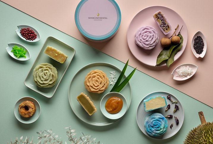 InterContinental Singapore's Peranakan flavours snowskin mooncakes