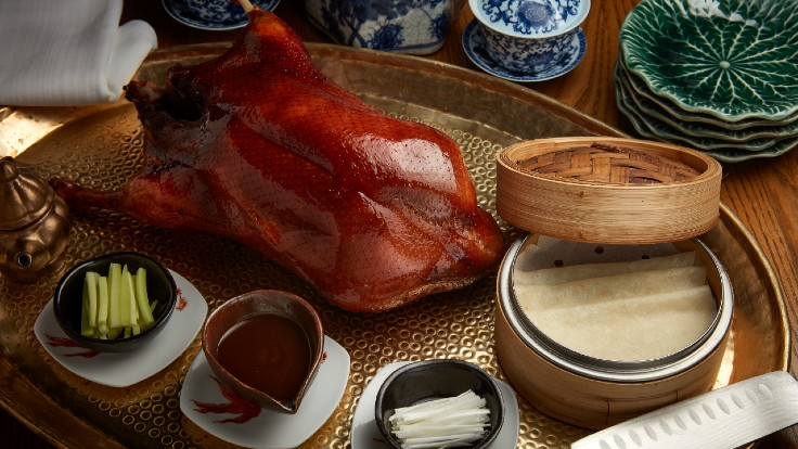 Duddell's executive chef Li Man-Lung has found that customers are looking more for comfort food, like the Peking duck set, from their takeaway and delivery menu. (Photo: Duddell's)