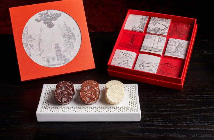 Mini Chocolate Mooncakes at Rosewood Hong Kong (Photo: Rosewood Hong Kong)