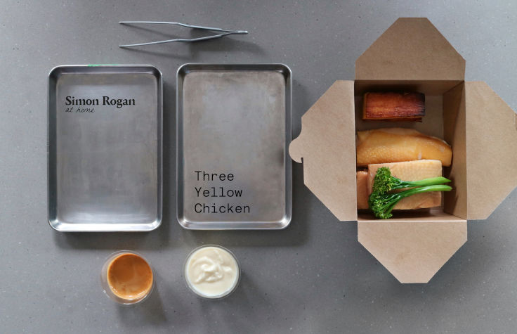 Roganic's 3-course meal kit features three delectable dishes and the restaurant's lauded Soda Bread with Whipped Brown Butter (Photo: Roganic)
