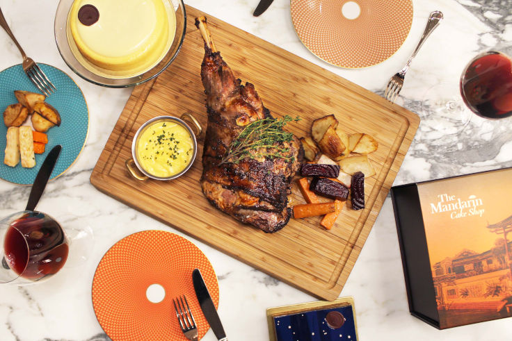 Roast New Zealand Lamb Leg offered by Mandarin Oriental, Hong Kong (Photo: Mandarin Oriental, Hong Kong)