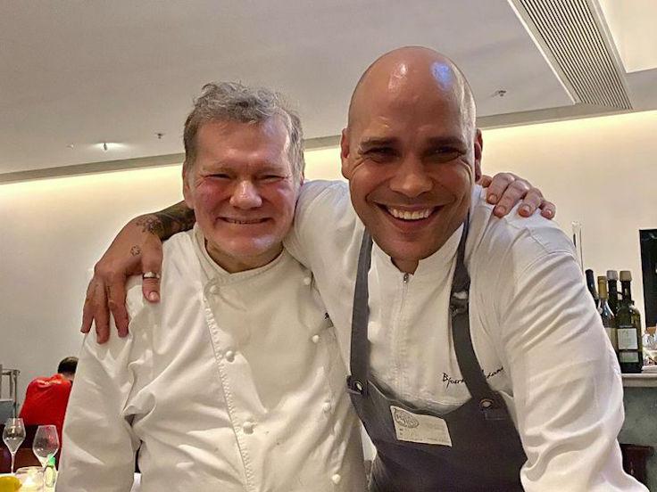 From left: Octavium welcomes new executive chef Roland Schuller and chef de cuisine Bjoern Alexander (Photo: Octavium Facebook page)