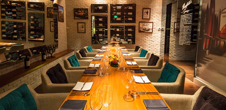 The private dining room is designed to look like a wine cellar at Osia. (Photo: Resorts World Sentosa)