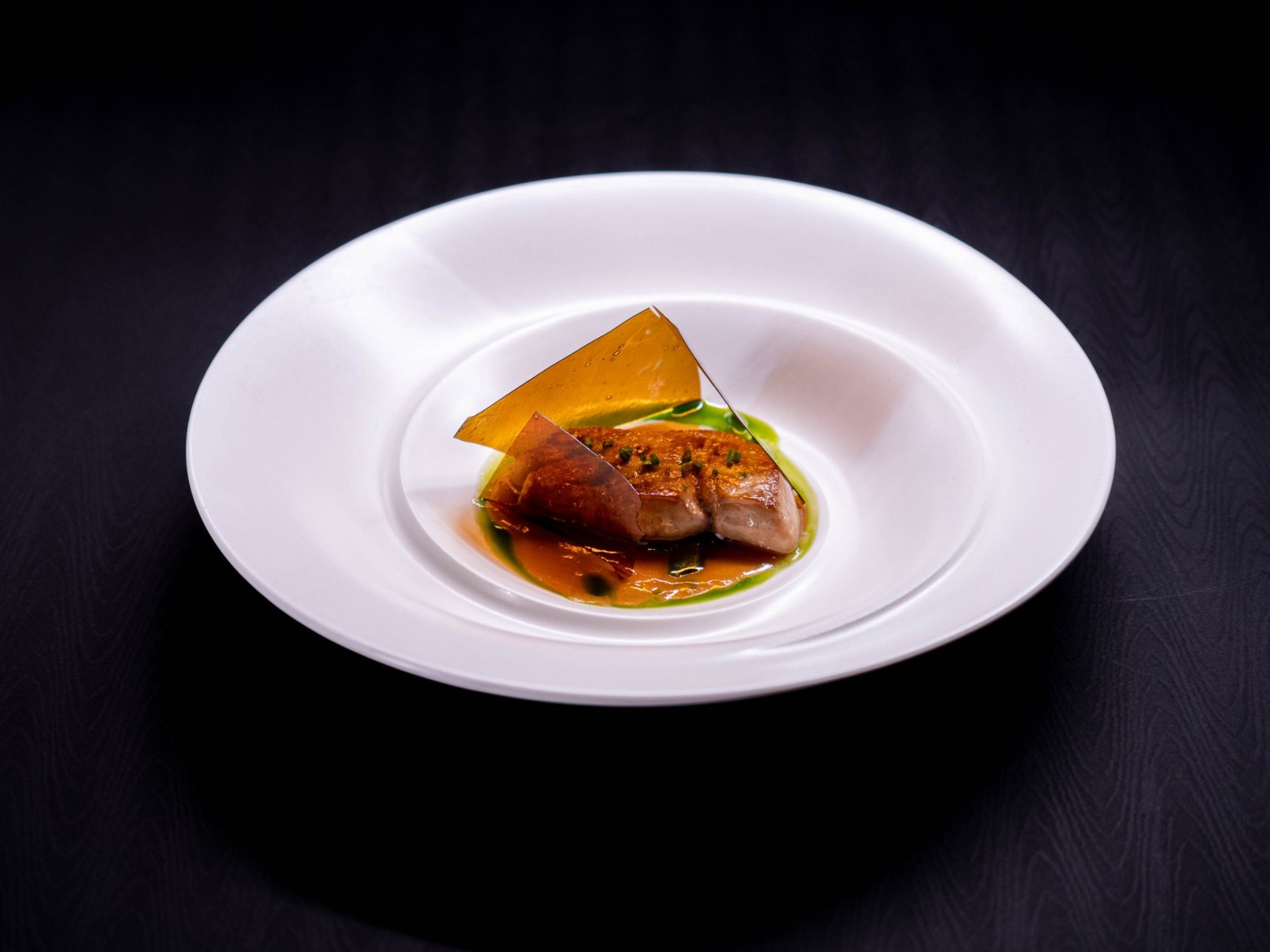 嫩煎鴨肝 康普茶,蘋果與焦化洋蔥(ULV 提供)