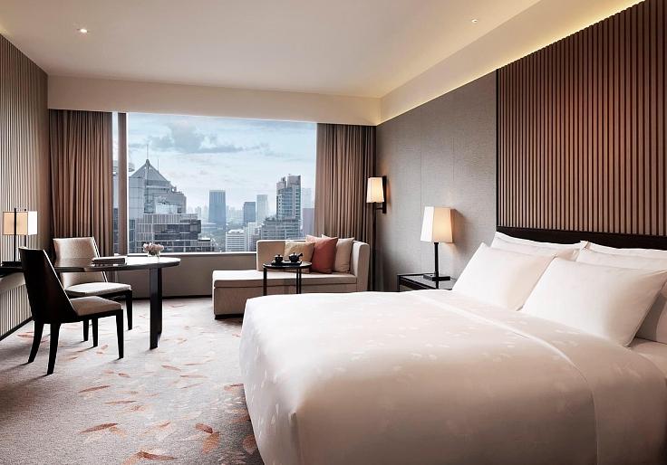 วิวย่านเพลินจิตจากห้องพักของโรงแรมแบรนด์ญี่ปุ่น (© ดิ โอกุระ เพรสทีจ กรุงเทพฯ)