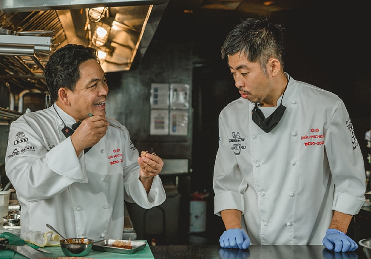 The duo first collaborated in Chef Chats Thailand miniseries.
