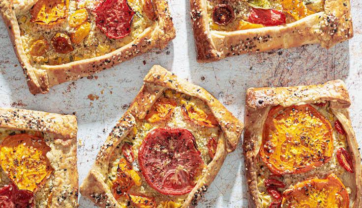 Tomato tarts. Photo courtesy of Shilpa Uskokovic.