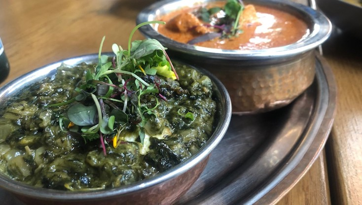 Palak Paneer and Butter Chicken, Tūmbi. Photo © Michelin North America.