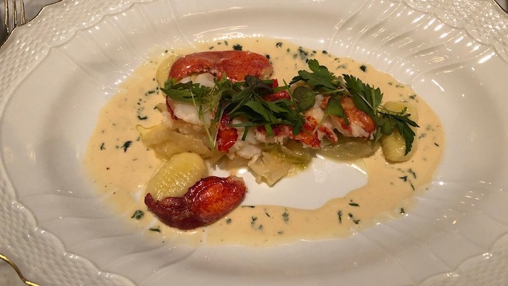 Lobster Newburg, Selby's. Photo © Michelin North America.
