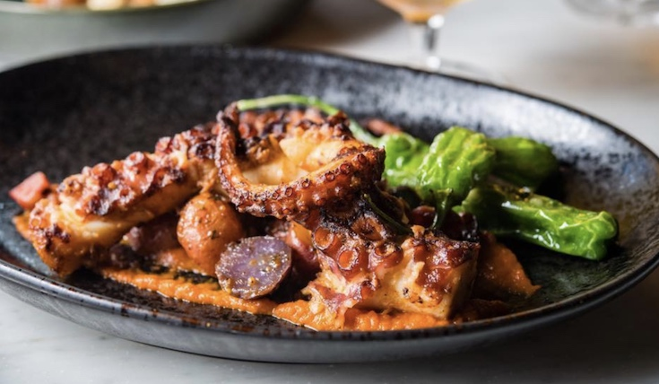 Charred Octopus. Photo by Fable & Spirit.