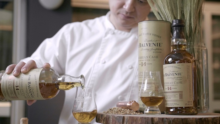 Chef Mike Tan from Madame Fan taking a taste of The Balvenie single malt whisky