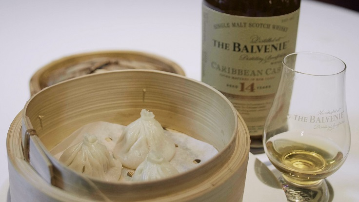 Whisky Xiao Long Bao paired with Balvenie 14 Year Old Caribbean Cask