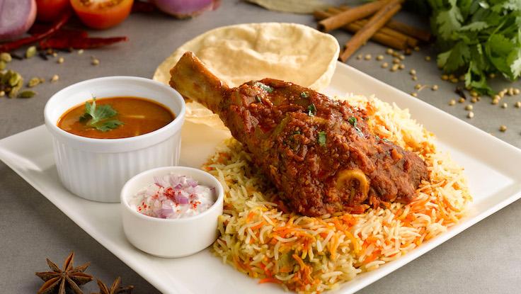 Lamb shank biryani (Photo: Zaffron Kitchen)