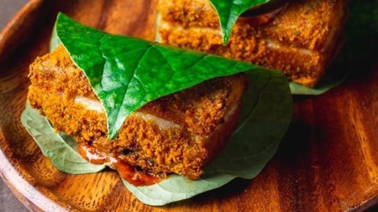 叁芭香蒜猪肉  Crispy Pork With Sambal Aioli(照片:Thevar)